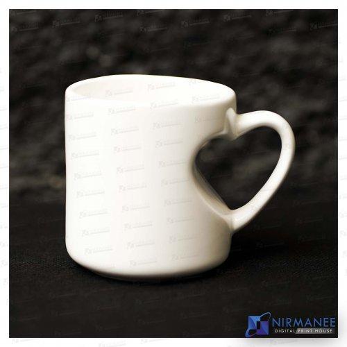 Emboss Heart Handle Mug