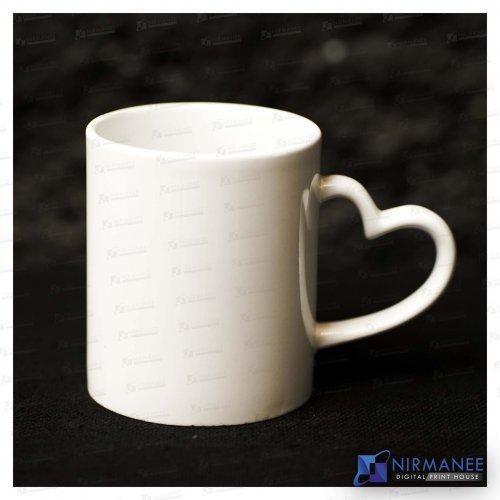 Heart Handle White Mug